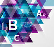 Vector triangle abstract background. With options Royalty Free Stock Photo