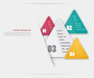 Vector triangle background. Color object Royalty Free Stock Photography