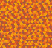 Vector triangle background, seamless pattern in brown colors Royalty Free Stock Photos