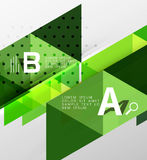 Vector triangle banner. Colorful geometric shapes with option infographic, minimalistic design Royalty Free Stock Photo