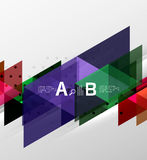 Vector triangle banner. Colorful geometric shapes with option infographic, minimalistic design Stock Images