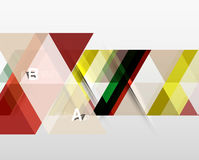 Vector triangle banner. Colorful geometric shapes with option infographic, minimalistic design Royalty Free Stock Images