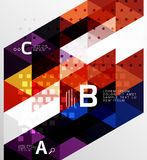 Vector triangle banner. Colorful geometric shapes with option infographic, minimalistic design Royalty Free Stock Photography