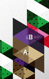 Vector triangle banner. Colorful geometric shapes with option infographic, minimalistic design Stock Photos