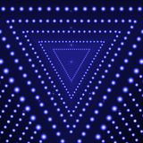 Vector Triangle Blue Shine Background, Glowing Circles, Abstract Lights. vector illustration