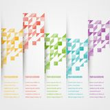 Vector triangle color 2 5.02.14. Abstact triangle template banner. Color set Vector Royalty Free Stock Photos