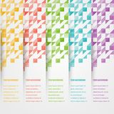 Vector triangle color 2 5.02.14. Abstact triangle template banner. Color set Vector Stock Photography