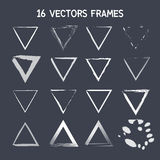 16 vector triangle frame Royalty Free Stock Images