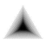 Vector Triangle halftone geometric shapes, Dot abstract background. Dotwork Illustration Stock Photography