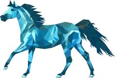 Vector triangle horse. Abstract horse of geometric shapes.  Royalty Free Stock Photo