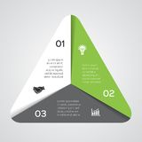Vector triangle infographic, diagram,. Stock Images