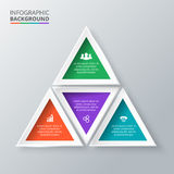 Vector triangle for infographic. Stock Photo