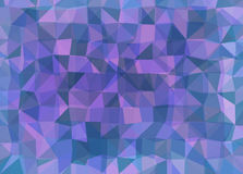 Vector triangle mosaic background with transparencies in dark colors Royalty Free Stock Image