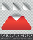 Vector Triangle with Paper Curl with Shadow Isolated Set. EPS 10 Royalty Free Stock Photo