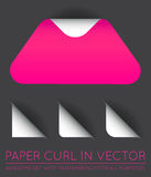 Vector Triangle with Paper Curl with Shadow Isolated Set. EPS 10 Stock Images