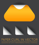 Vector Triangle with Paper Curl with Shadow Isolated Set. EPS 10 Royalty Free Stock Image