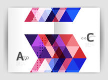 Vector triangle print template Royalty Free Stock Photo