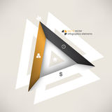 Vector triangle shape infographics background Stock Images