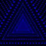Vector Triangle Shining Background, Glowing Circles, Blue Pattern Lights. Vector Triangle Shining Background, Glowing Circles, Blue Pattern Lights on Dark Stock Photo