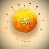 Vector triangle summer sun Stock Photos