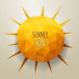 Vector triangle summer sun Stock Photo