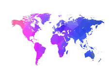 Vector triangle world map. Globe triangle concept. World map concept Stock Photography
