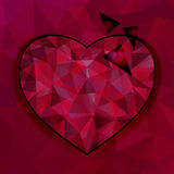 Vector triangles heart background Royalty Free Stock Images
