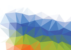 Vector triangular background low poly gradient. Geometric multicolor triangular low poly gradient illustration for graphic background. Vector design texture Stock Photo