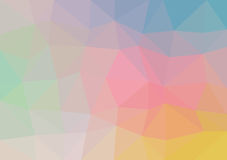 Vector triangular background low poly gradient. Geometric multicolor triangular low poly gradient illustration for graphic background. Vector design texture Stock Photography