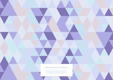 Vector triangular de la plantilla del fondo del estallido de la colección abstracta geométrica del modelo fotografía de archivo libre de regalías