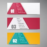Vector trianguljar banner 2 10.09.13 royalty-vrije illustratie