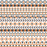 Vector tribal aztec seamless pattern Stock Image
