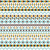 Vector tribal aztec seamless pattern Royalty Free Stock Images
