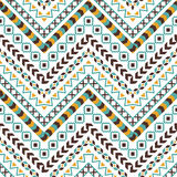 Vector tribal aztec seamless pattern Stock Photography