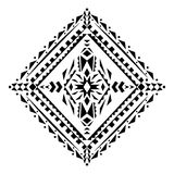 Vector tribal black and white decorative pattern for design. Aztec ornamental style Stock Photo