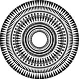 Vector tribal circle. Vector composed by tribal spines and forms Stock Photos