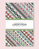 Vector tribal colorful banner Stock Image
