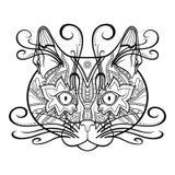 Vector Tribal Decorative Cat Stock Photos