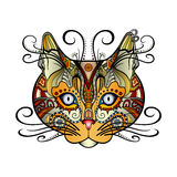 Vector Tribal Decorative Cat royalty free illustration