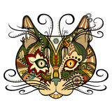 Vector Tribal Decorative Cat vector illustration