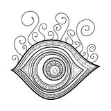 Vector Tribal Decorative Eye Amulet Stock Images