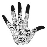 Vector Tribal Decorative Hand Royalty Free Stock Photo