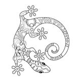 Vector Tribal Decorative Lizard royalty free illustration