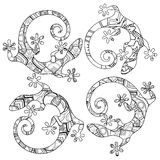 Vector Tribal Decorative Lizard Royalty Free Stock Images