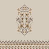Vector tribal decorative pattern with border for design and fashion. Aztec ornamental style Stock Images