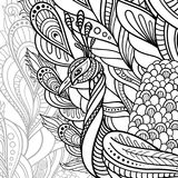Vector Tribal Decorative Peacock stock illustration
