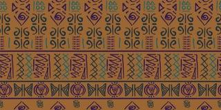 Vector tribal del modelo con estilo antiguo del símbolo egipcio inconsútil Fondo del ejemplo del vintage para la impresión de la  ilustración del vector