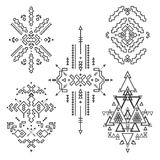 Vector Tribal elements, ethnic collection Royalty Free Stock Photography