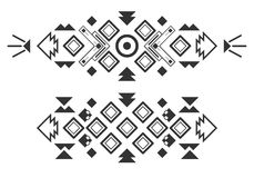 Vector tribal elements, ethnic collection, aztec stile  on white background Royalty Free Stock Images