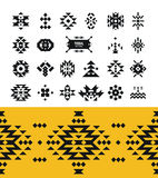 Vector Tribal elements with hipster logo, aztec Royalty Free Stock Images